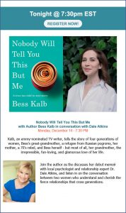 Dr Dale Atkins Interviews Bess Kalb, Emmy-nominated TV writer