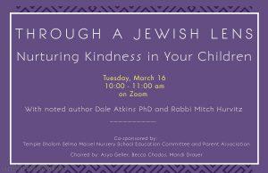 Through A Jewish Lens: Nurturing Kindness in Your Children